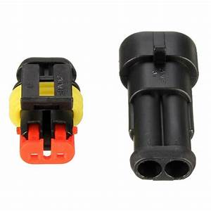 Waterproof Pa66 2 Pin Way Wire Connector Terminals For