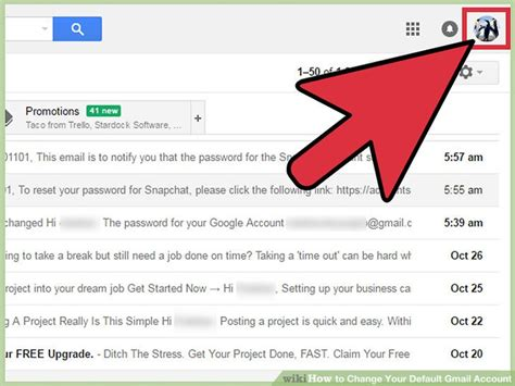 How To Change Your Gmail Background How To Change Your Default Gmail Account 11 Steps With