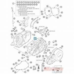 58530039400 Engine Case Gasket Ktm Lc4