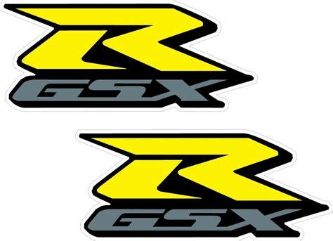 Suzuki Motorcycle Decals by 2x Gsxr Suzuki Motorcycle Stickers Yellow Silver Decals