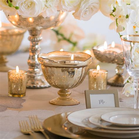 gold mercury glass compote gold mercury glass carraway compote bowl for wedding