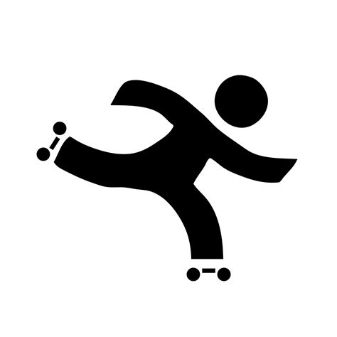 Skating Clip Roller Skate Outline Clipart Clipground