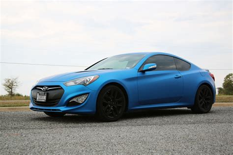 matte color car hyundai genesis coupe matte metallic blue color change