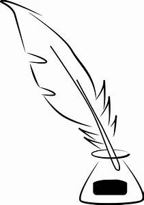 Clipart - Quill And Ink Line Art