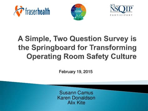 Questions For Operating Room by A Simple 2 Question Survey Is The Springboard For