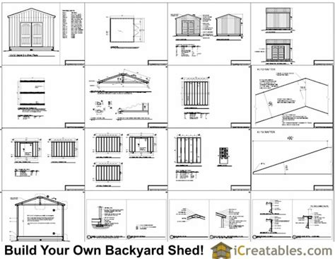 12x12 shed plans gable shed storage shed plans