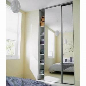 Miroir Sur Mesure Castorama : portes de placard coulissantes miroir argent 250 x 120 ~ Dailycaller-alerts.com Idées de Décoration
