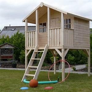 Maison En Bois Enfant : maison en bois enfants sur pilotis noah ~ Nature-et-papiers.com Idées de Décoration