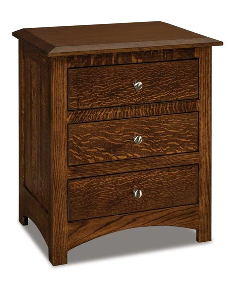 10 Wide Nightstand by Finland Wide 3 Drawer Nightstand Amish Direct Furniture