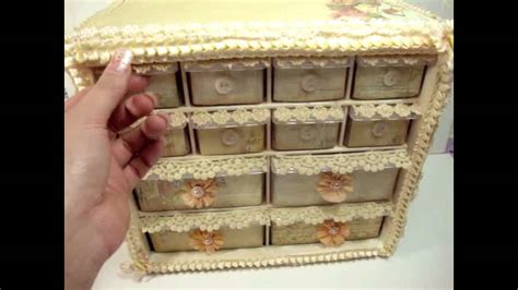 shabby chic organization ideas vintage shabby chic storage organizer idea youtube