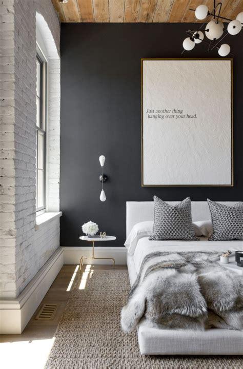 Schlafzimmer Schwarze Wände by Schwarze W 228 Nde 48 Wohnideen F 252 R Moderne Raumgestaltung