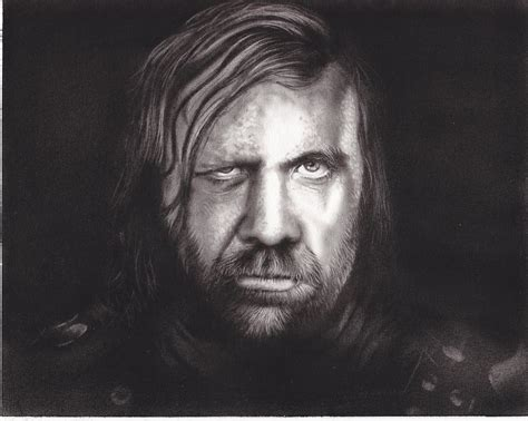 Game Of Thrones The Hound Sandor Clegane Art Charcoal