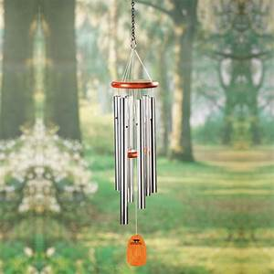 Amazing Grace Wind Chimes of Ash Wood and Aluminum at