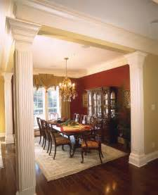 plantation home interiors dining rooms with columns room ornament