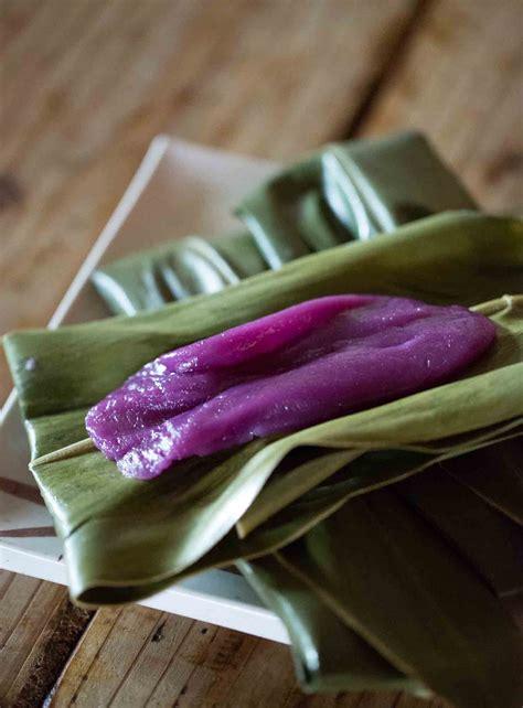 sweet purple potato rice cakes purple potato mochi