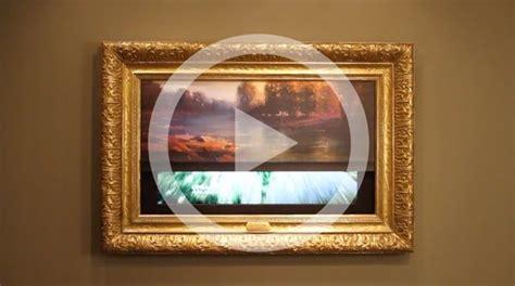 Fernseher Hinter Bild Verstecken by Tv Hinter Einem Bilderrollo Mit Rahmen Verstecken Diy In