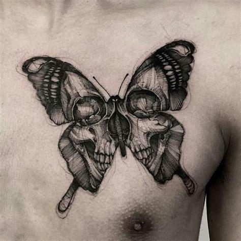 butterfly skull tattoo tattoo ideas prett