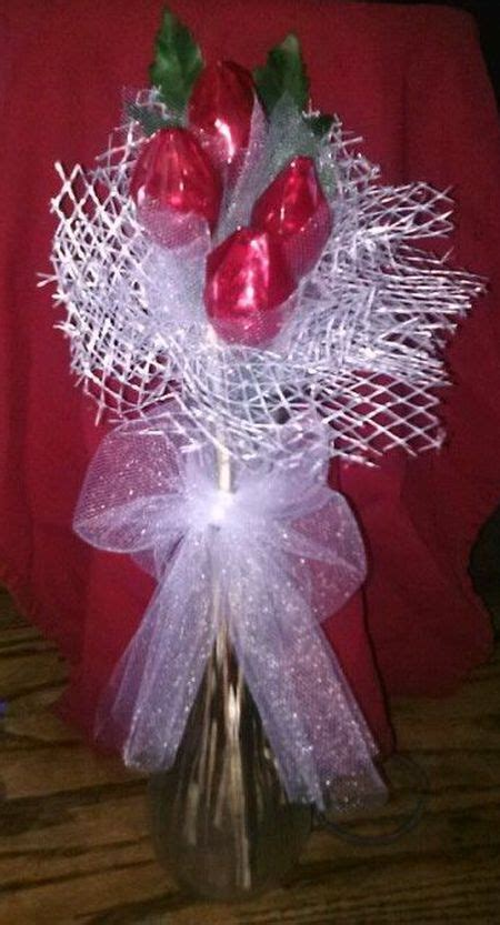 hershey kiss rose favor arrangement   diy wedding
