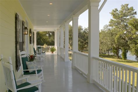 White Porch Floor