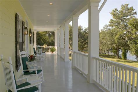 White Porch Floor