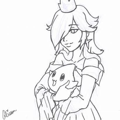 Rosalina Princess Mario Coloring Bros Nintendo Deviantart