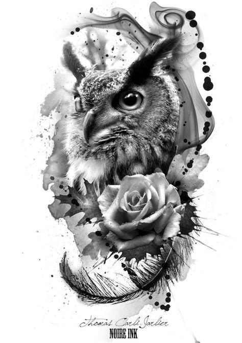 47 + inspirierende Ideen und Bilder zum Thema Owl Tattoo
