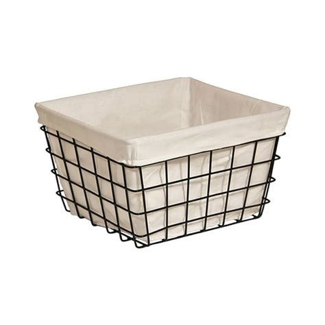 shop cheungs lined metal wire rectangular storage