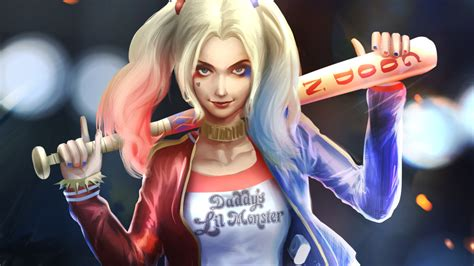 Harley Quinn Art, Full Hd 2k Wallpaper