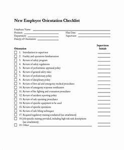 New Hire Training Plan Template Free 20 Sample New Employee Checklists In Pdf Ms Word