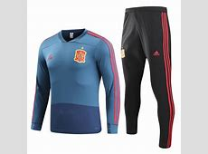 Spain 2018 FIFA World Cup Blue Training Suit Shirt