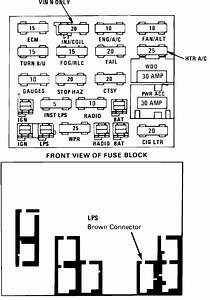 Where Can I Get A Fuse Panel Diagram For A Buick Century 1992