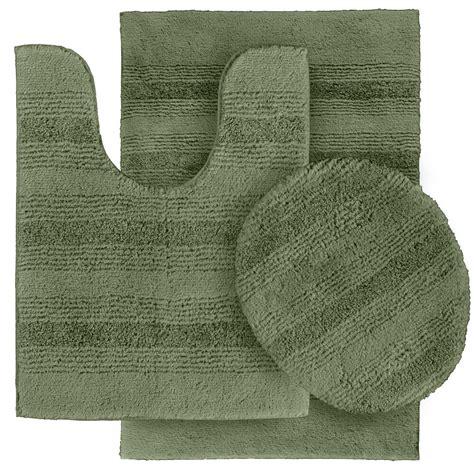 deyanira  piece green bath rug set wayfair