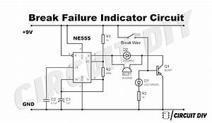 How To Make Brake Failure Indicator Circuit Using 555 Timer