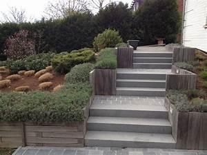 bigmat grez doiceau materiaux de construction realisations With jardin gravier comment faire 6 decoration paysagere traverses paysagares en bois