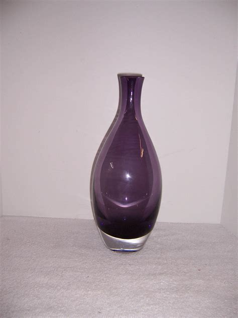 tarnow purple glass vase poland triple  resale