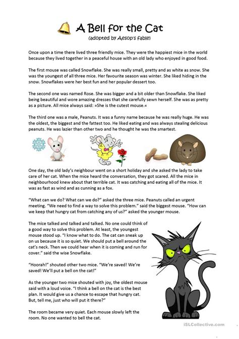 fable worksheets for kindergarten fable best free