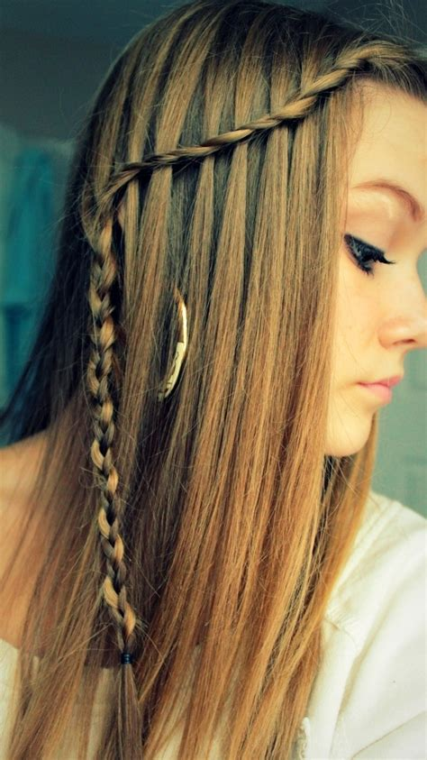 waterfall braids hairstyle ideas  long hair