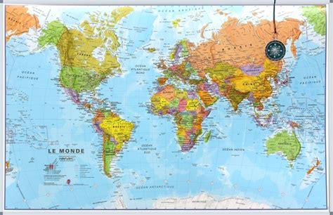 wereldkaart carte du monde sur tableau d affichage livraison gratuite be nl