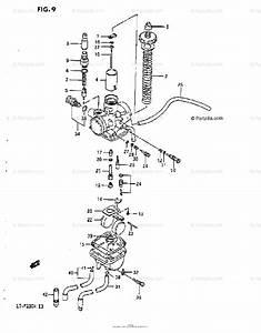 Suzuki Atv 1987 Oem Parts Diagram For Carburetor