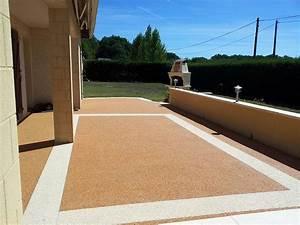 Sol Pour Terrasse : terrasse en moquette de pierre resiway ~ Edinachiropracticcenter.com Idées de Décoration