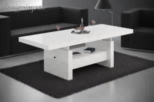couchtische design design couchtisch h 111 weiß hochglanz schublade höhenverstellbar ausziehbar tisch