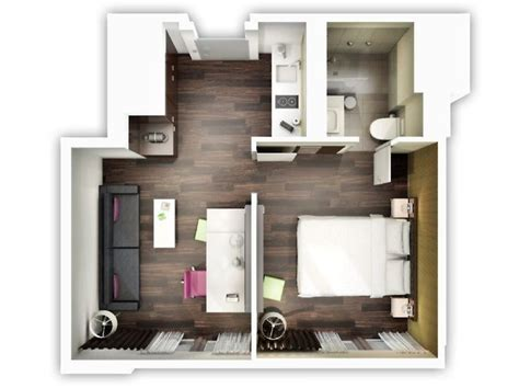 le plan appartement dun studio  idees originales