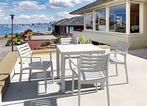 Table Carrée De Jardin : table de jardin carr e design blanc ares ~ Melissatoandfro.com Idées de Décoration