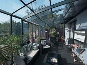 Abri De Terrasse Rideau : un jardin d 39 hiver prot g par un abri de terrasse ~ Premium-room.com Idées de Décoration