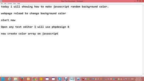 random color javascript how to make javascript random background color