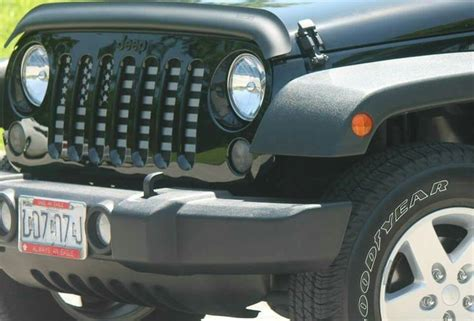 american flag jeep grill flag grill insert subdued by dirty acres on fb jeep