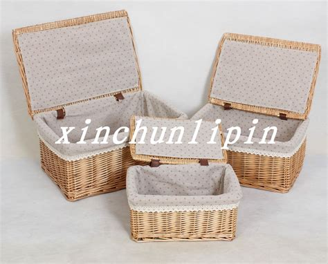 large storage basket with lid 2016 promotion caixa organizadora willow storage basket with lid large rustic baskets box