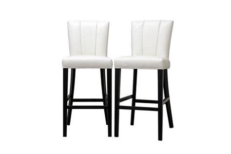 janvier white leather modern bar stool restaurant