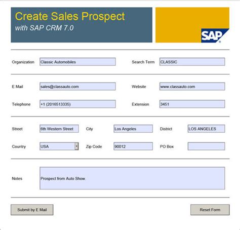 filling out an sap form lean offline scenarios for sap crm 7 0 sap blogs