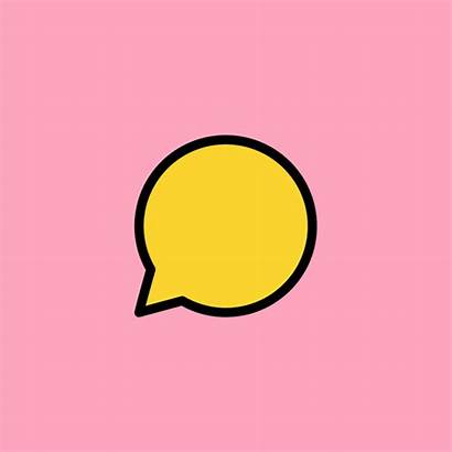 Bubble Conversation Animated Motion Animation Inside Support